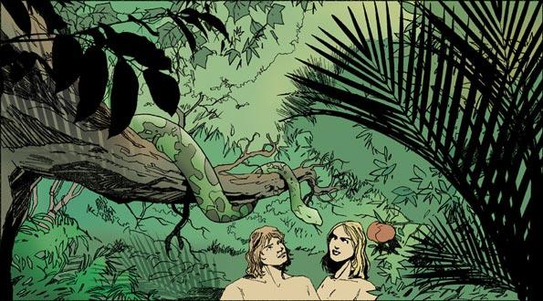 Adam et Eve jardin d'Eden