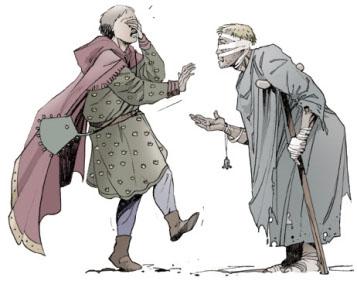 François d'assise et le lépreux