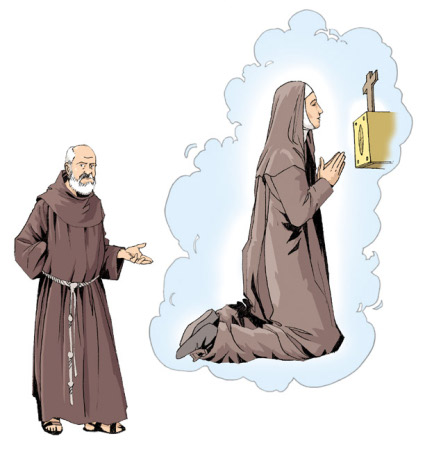 Claire d'Assise Saint Sacrement Frère Rufin